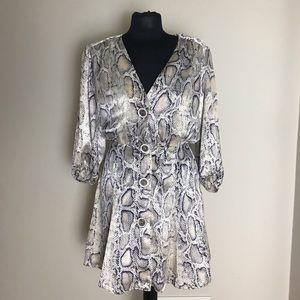 Zara Satin Snake-print Dress